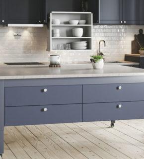 Höj- och sänkbar köksö/matsalsbord